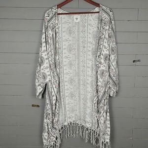 BillaBong Kimono Fringe Oversize